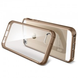 Series Linear Crystal Back Cover + Frame Case for iPhone 5 & 5S (Guld)