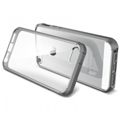 Spigen Linear Crystal Back Cover + Frame Case for iPhone 5 & 5S (Grå)