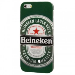 Heineken Beer Pattern Series Plastic Case for iPhone 5 & 5S