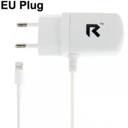 8 Pin Male Adapter EU Plug Charger Sync Cable til iPhone 5 / iTouch 5 / iPad 4 / iPad mini / mini 2 Retina / iPad nano 7