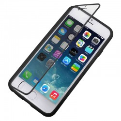 Horizontal Flip Touch Screen Frosted TPU Protection Case for iPhone 6(Sort)