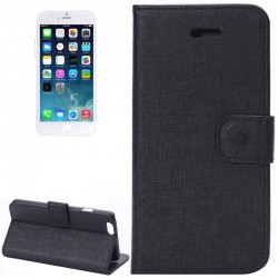 Oracle Texture Horizontal Flip Læder Etui med Kort beholder og Holder til iPhone 6 (Hvid)