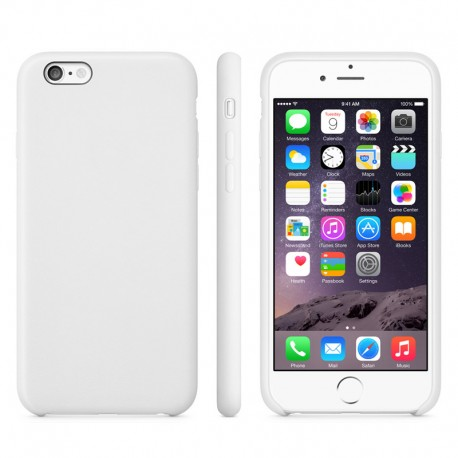 Anti-slip TPU Cover til iPhone 6 (Hvid)