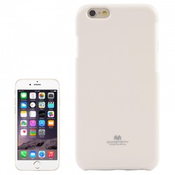 Jelly Shimmering Powder TPU Cover til iPhone 6 Plus (Hvid)