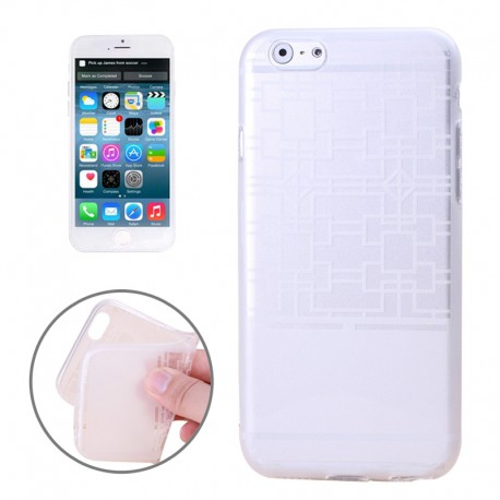 Frame Structure TPU Cover til iPhone 6 (Hvid)