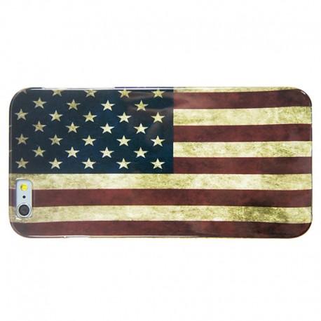 US Flag Mønster TPU Cover til iPhone 6