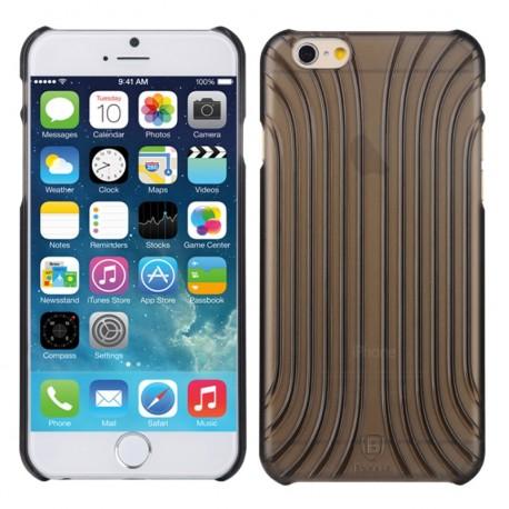 Baseus Shell Mønster Plastik Cover til iPhone 6 (Sort)