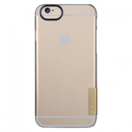 Baseus Ultra-tynd Gennemsigtig Plastik Cover til iPhone 6 (Guld)