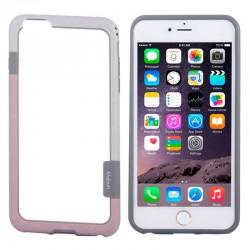 Bumper (To-Farver) til iPhone 6 (Hvid+Pink)
