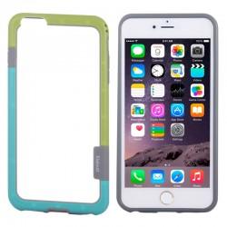 Bumper (To-Farver) til iPhone 6 (Grøn+Blå)