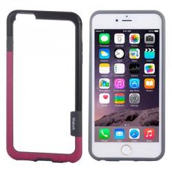 Bumper (To-Farver) til iPhone 6 (Sort+Magenta)