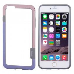 Bumper (To-Farver) til iPhone 6 (Pink+Lilla)