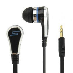 Street by 50 Professionally-tuned Ergonomic 3.5mm Plug Flat Wire Style In-Ear Wired Headphones til iPhone / iPad / iPod (Sort)