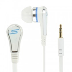Professionally-tuned Ergonomik 3.5mm Plug Flat Wire Style Høretelefoner til iPhone / iPad / iPod (Hvid)