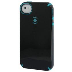 Speck Silikone & Plastik Cover med Udluftningshuller til iPhone 4 & 4S (Sort)