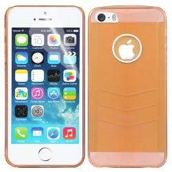Baseus Ultra-tynd Gennemsigtig Plastik Cover til iPhone 5/5S (Guld)