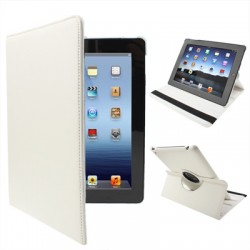 iPad 2 / 3 (New iPad) / 4 Med 360 Graders Roterende Case (Hvid)