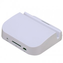Apple iPad Dock Station til New iPad (iPad 3) / iPad 2 & iPad - Hvid