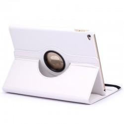 iPad Air 2 Læder Cover Med 360 Graders Roterende Case - Hvid