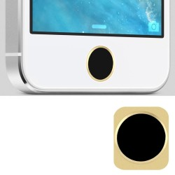 Replacement Golden Ring Aluminum Home Button for iPhone 5 (Hvid)