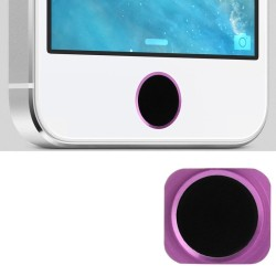 Replacement Ring Aluminum Home Button Til iPhone 5 (Sort+Pink)