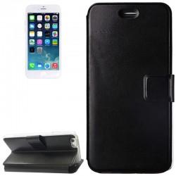 Voltage Horizontal Flip Læder Etui med Kort beholder og Holder til iPhone 6 (Hvid)