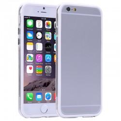 Gennemsigtig Plastik + TPU Bumper til iPhone 6 (Hvid)