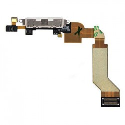 Charge Dock Connector Flex Cable til iPhone 4S (Hvid)