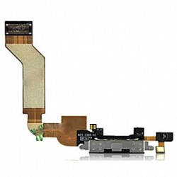 Charge Dock Connector Flex Cable til iPhone 4S (Sort)