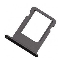 SIM Card Tray Holder til iPhone 5S (Sort)