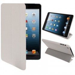 3-fold Smart Cover med Holder til iPad mini / mini 2 Retina (Hvid)