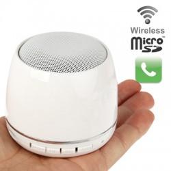 Portable Mini Højtaler DG168 Hvid, Bluetooth V2.0
