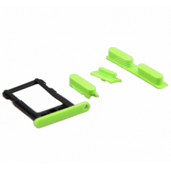 SIM Card Tray & Side Button Set til iPhone 5C (Blå)
