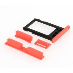 SIM Card Tray & Side Button Set til iPhone 5C (Grøn)