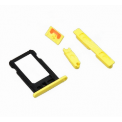 SIM Card Tray & Side Button Set til iPhone 5C (Hvid)