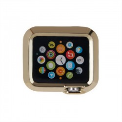 Plating TPU Protective Case til Apple Watch 42 mm (Gul)