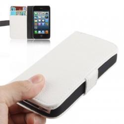 iPhone 4 / 4S Læder Cover med Kreditkort Lomme (Sort)