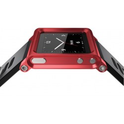 Aluminum Bracelet Watch Band Wrist Cover Case for iPod Nano 6 / 7 - Red