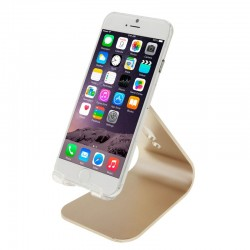 Universal Aluminum Legering, Holder til iPhone / iPad / Samsung / HTC / Nokia / LG Mobile Phone eller Tablet PC (Guld)