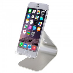 Universal Aluminum Legering, Holder til iPhone / iPad / Samsung / HTC / Nokia / LG Mobile Phone eller Tablet PC (Sølv)