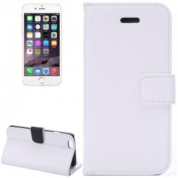 iPhone 6S Plus / 6 Plus Læder Etui med Lommer til Kreditkort (Hvid)