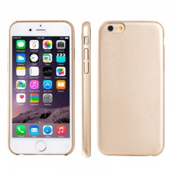 iPhone 6S / 6 Ultra-tynd Læder Bag Cover (Gold)