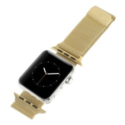 Milanese Rustfri Stål Urrim til Apple Watch 42mm - Guld