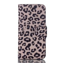 Leopard Mønstre Læder Etui med Kortholder & Bagcover til iPhone 6S  / 6 (Brun)