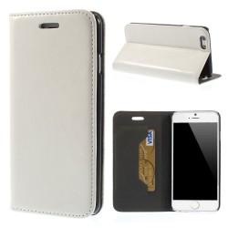 Glossy Læder Beskyttelses Cover til iPhone 6S / 6 - Hvid