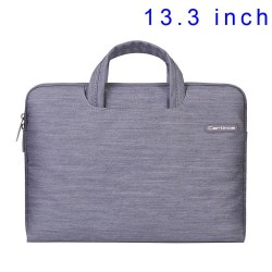 Grey Cartinoe Jean Series Notebook Sleeve Case Bag for MacBook Air Pro 13.3 inch, Størrels: 34 x 26cm