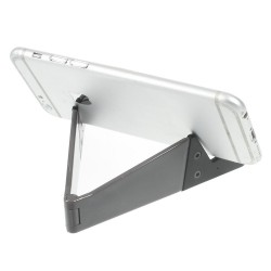 "Foldable ""V Shape"" Mobiltelefon Holder til iPhone Samsung Sony HTC - Sort"