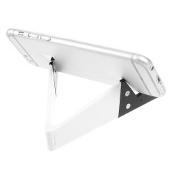 "Foldable ""V Shape"" Mobiltelefon Holder til iPhone Samsung Sony HTC - Hvid"