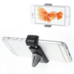 Bil Holder - til ventilation - passer til iPhone Samsung Sony m.m. (med  bredde: 6 - 9cm) - Sort