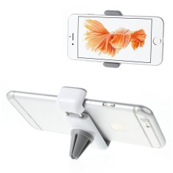 Bil Holder - til ventilation - passer til iPhone Samsung Sony m.m. (med  bredde: 6 - 9cm) - Hvid